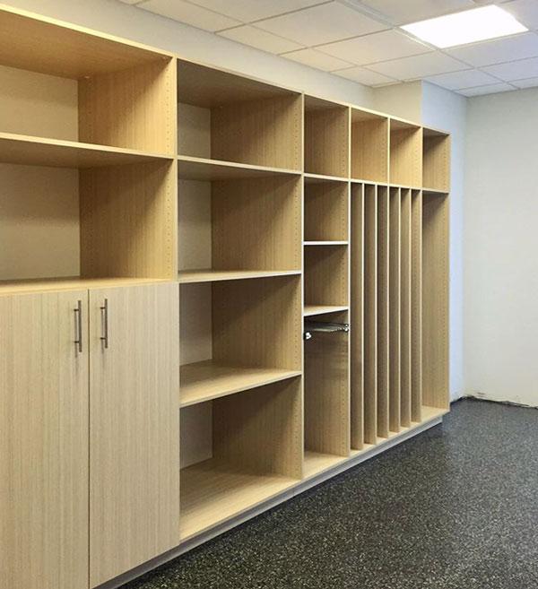 Tan Closet Storage System